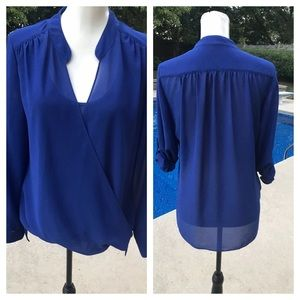 GORGEOUS ROSE & OLIVE blue blouse